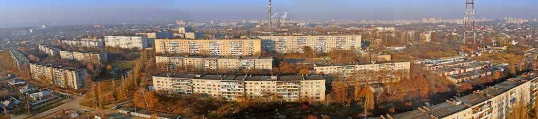 Съемка с дрона Салтовка Аэрофотосъемка Панорама Харьков Украина
