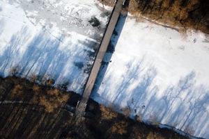 Съемка с дрона Мост Аэрофотосъека Харькова Украина