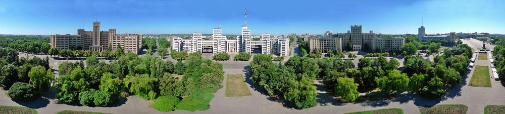 Аэрофотосъемка Харькова Панорама Госпрома и пл Свободы