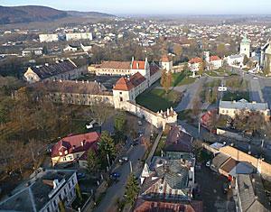 Съемка с дрона Замок в Жовкве аэрофотосъемка с высоты Львовская область, Украина