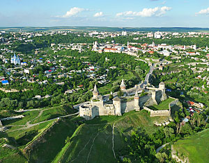 Съемка с дрона Аэрофотосъемка Каменец-Подольский замок. Украина