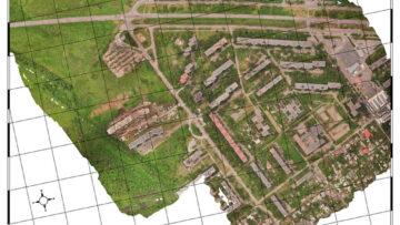 Аэрофотосъемка с дрона Карта местности из ортофотоплана