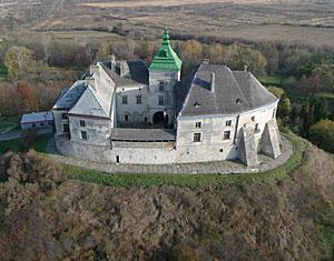 Съемка с дрона Аэрофотосъемка Олесський замок. Львовская область, Украина