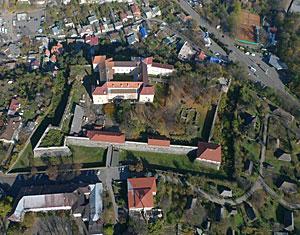 Аэрофотосъемка с дрона Ужгородский замок. Ужгород, Украина