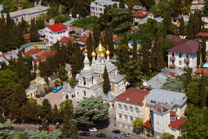 Съемка с дрона Аэрофотосъемка Ялты Храм Александра Невского