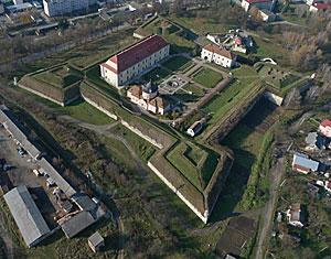 Съемка с дрона Аэрофотосъемка Золочевский замок. Золочев, Львовская область, Западная Украина
