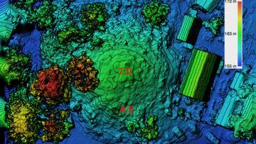 Карта высот и изолинии Курган в Люботине