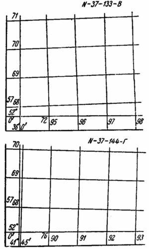 Подписи осей карты СК42