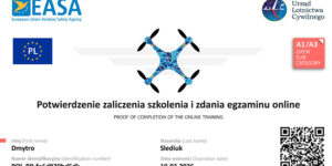 Сертификат пилота дрона EASA A1/A3