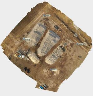 Ортофотоплан завода полученный с дрона